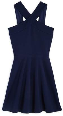 Aqua Girls' Cross Front Textured Dress, Big Kid - 100% Exclusive