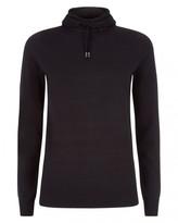 Jaeger Textured Stripe Hooded Sweater