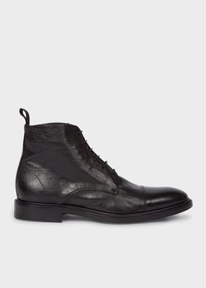 Men's Dip-Dyed Black Calf Leather 'Jarman' Boots