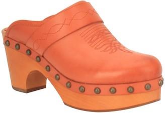 Dingo Womens Slip-On Leather Platform Clogs - Latigo