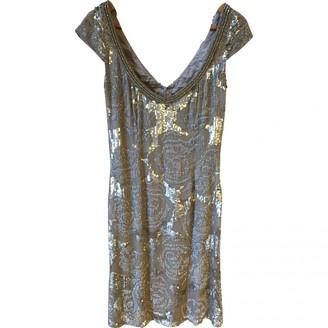 Jenny Packham Silver Glitter Dress for Women