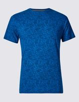 Marks and Spencer Pure Cotton Slim Fit Paisley T-Shirt