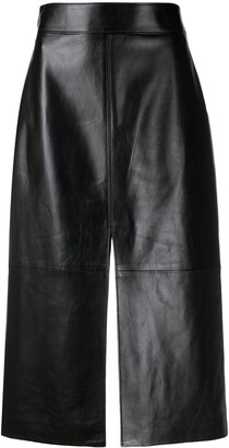 Givenchy Slit Leather Skirt