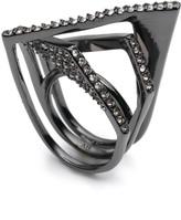 Alexis Bittar Crystal Encrusted Origami Peeks Ring