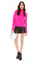 Torn By Ronny Kobo Agnes Cropped Sweater in Pink