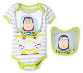 Toy Story Disney Buzz Newborn Bodysuit & 2 Bibs - Grey