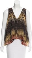 Alexis Sleeveless Abstract Print Top