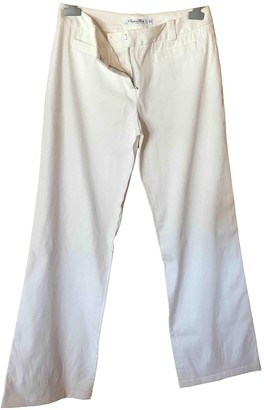 Christian Dior White Cotton Trousers for Women