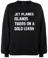 Private Party Jet Planes Tigers Sweatshirt