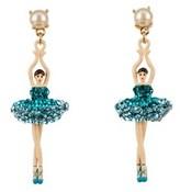 Les Nereides Luxury Pas De Deux Aquamarine Ballerina Earrings.