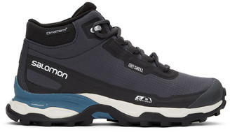 Salomon Black and Blue Shelter CS WP Advanced Boots