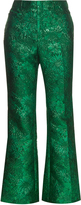 Gucci Floral-brocade flared trousers