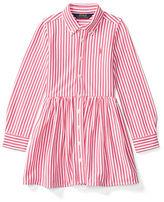 Ralph Lauren Girls 2-6x Striped Pima Cotton Shirt Dress