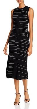 Milly Ribbed Stripe Midi Dress