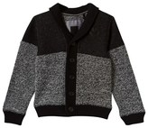 Ikks Black Knit and Jersey Rule the City Shawl Cardigan