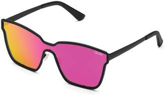 Quay Sunglasses Womens **Black And Pink After Dark Sunglasses By Black