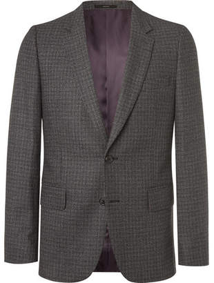 Paul Smith Charcoal Slim-Fit Puppytooth Wool Suit Jacket
