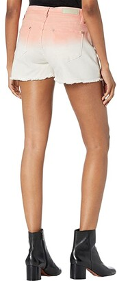 Rock and Roll Cowgirl Mid-Rise Ombre Denim Shorts in Peach Ombre 68M9782