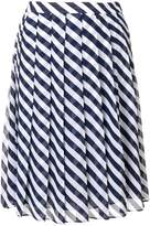 MICHAEL Michael Kors striped pleated skirt