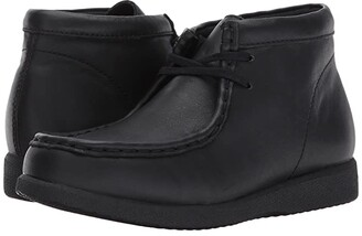 Hush Puppies Kids Bridgeport III (Little Kid/Big Kid) (Black Leather) Boy's Shoes