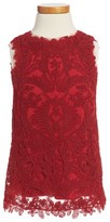 Tadashi Shoji Girl's Embroidered Sheath Dress