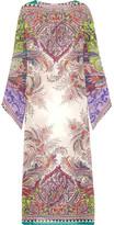 Etro Printed Silk-chiffon Coverup - Lilac