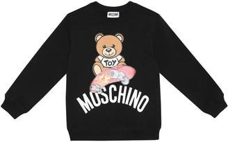 Moschino Kids Logo cotton sweater