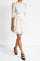 Alexander McQueen Lace Mini Dress with Cotton