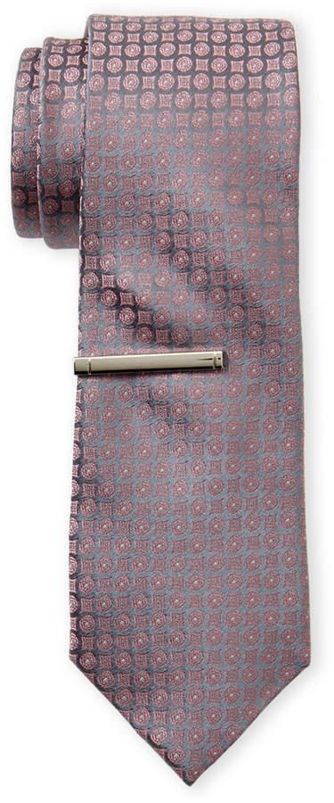 Calvin Klein Melon Medallion Silk Tie