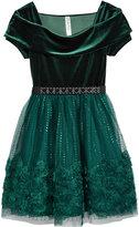 Beautees Velvet Off The Shoulder Party Dress, Big Girls (7-16)
