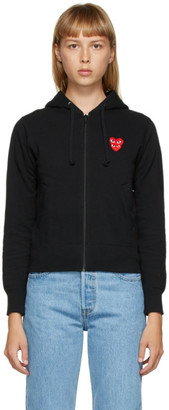 Comme des Garcons Black Layered Heart Zip-Up Hoodie