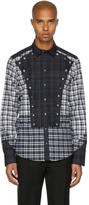 Dolce & Gabbana Grey and White Check Western Shirt
