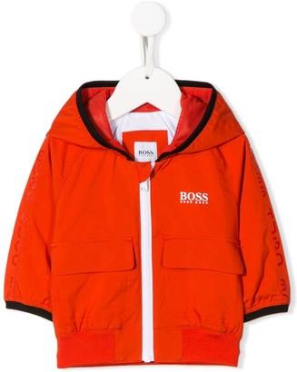 Boss Kidswear Logo Print Hooded Jacket