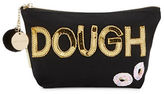 Bow And Drape Doughnut Embellished Canvas Pouch