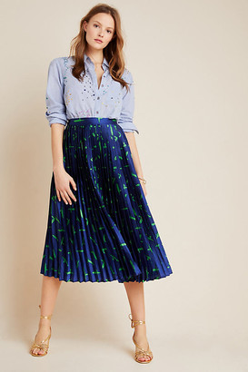 Judith Pleated Midi Skirt By Damola Jumo in Blue Size S