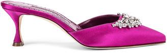 Manolo Blahnik Lurum 50 Mule in Pink | FWRD