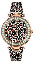 Versace Versus Women's Quartz Watch with Multi-Colour Dial Analogue Display and Multi-Colour Leather Strap SQ104 0013