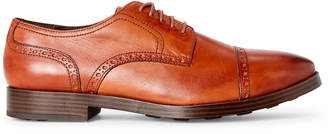Cole Haan British Tan Jefferson Grand Brogue Derby Shoes