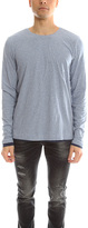 Vince Pima Cotton Double Layer Reversible Long Sleeve Tee