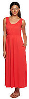 Stan Herman As Is Rayon Jersey Sleeveless Maxi Dress