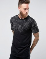 ONLY & SONS Longline T-Shirt With Raised Print Splats