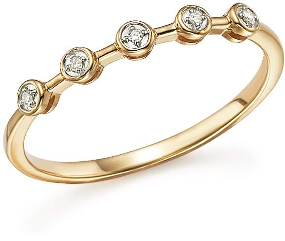 Adina 14K Yellow Gold Five Bezel Diamond Ring