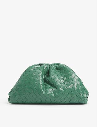 Bottega Veneta The Pouch Intrecciato woven leather clutch bag
