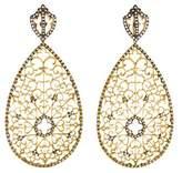 Loree Rodkin 18K Diamond Lattice Earrings
