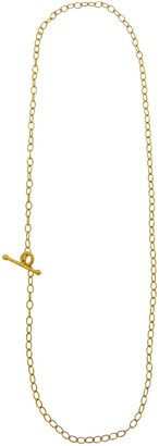 Cathy Waterman Tiny Lacy 18 Inch Yellow Gold Chain Necklace