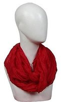 Women Cotton Scarf Soft Wrap Shawl Ninasill Scarf (red)
