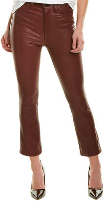 Joe's Jeans Burgundy Leather Cropped Bootcut