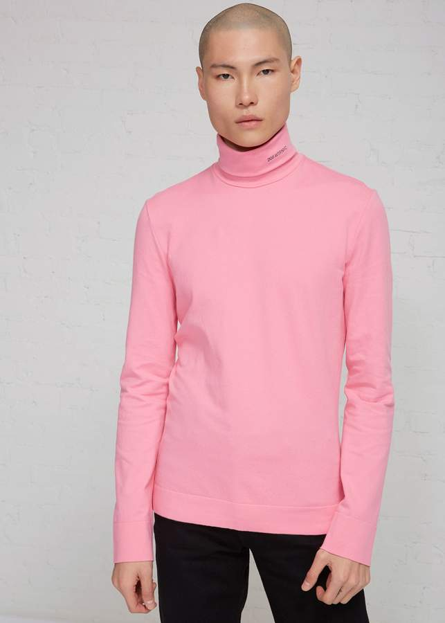 Calvin Klein Cotton Jersey '205' Turtleneck