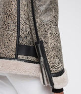 AllSaints Rei Shearling Biker Jacket