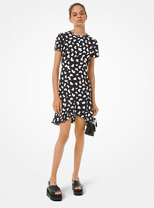 Michael Kors Petal Crepe Ruffle Dress